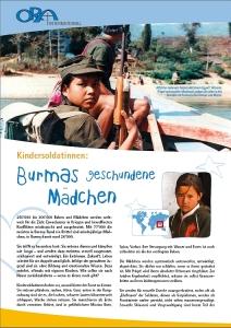 Titel der ORA-Publikation zu Kindersoldatinnen in Burma
