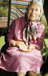 Eine Bewohnerin unseres Altenheims in Moldawien