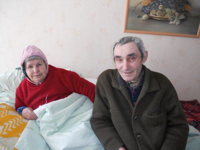 Unsere treuesten Heimbewohner: Frau Parascovia Raiu und Herr Vasile Botan.