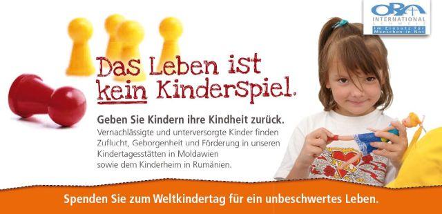 Spenden Sie jetzt zum Weltkindertag 2012