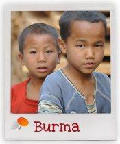 Jungs aus unserem Förderschaftsprojekt in Burma