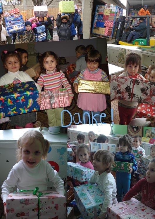 Dankes-Collage zur Päckliverteilung 2012