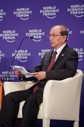 Thein Sein als burmesischer Premiermininister am Weltwirtschatsforum in Davos am 6. Juni 2010 (c) Thai Government (http://www.flickr.com/photos/thaigov/4675364003/)