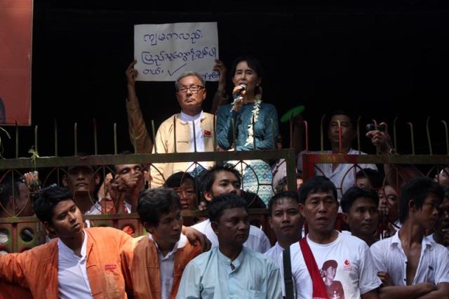 Suu Kyi nach ihrer Freilassung (c) Htoo Tay Zar (http://commons.wikimedia.org/wiki/User:Tayzar44)