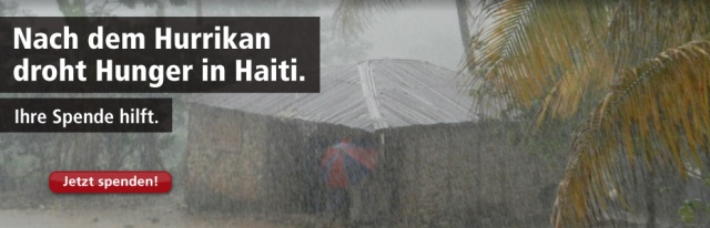 Haiti nach Hurrikan Sandy: Hunger, Krankheit, Not - bitte spenden Sie jetzt!