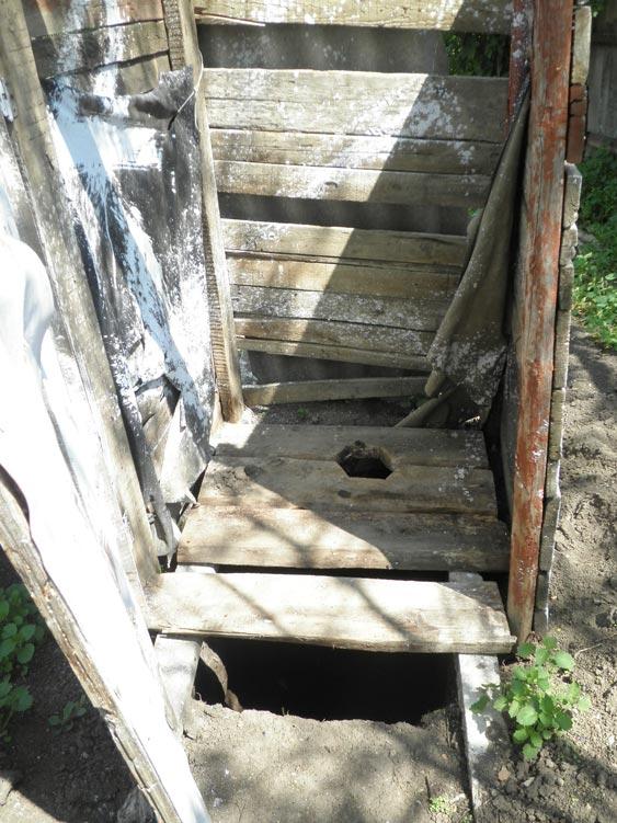 Ein Verschlag ohne Dach und Tür