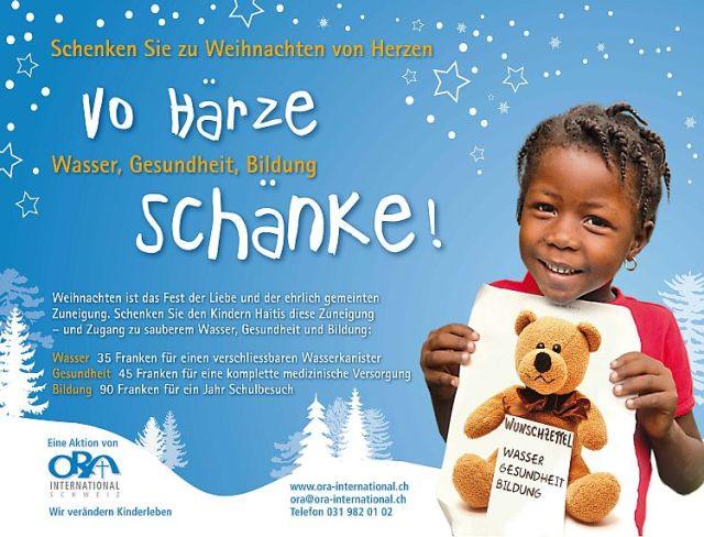 2012.12 ORA Weihnachtsaktion - Vo Haerze schenke_Seite_1