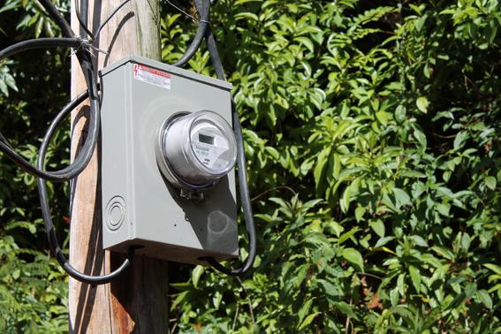 Der neue Stromzähler in Lougou